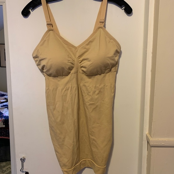 Tops - Nude nursing tank top with pads